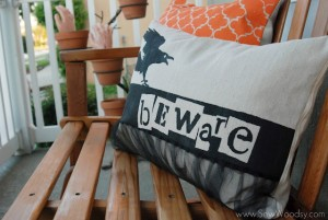 Double Sided Painted Pillow