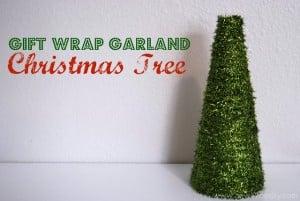 {Video Tutorial} Gift Wrap Garland Christmas Tree