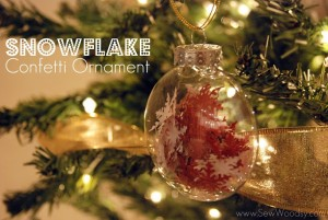 12 Days of Handmade Ornaments + Snowflake Confetti Ornament