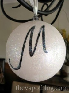 monogram, ornament, black, white, glitter