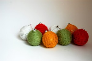 yarn covered ornaments-9