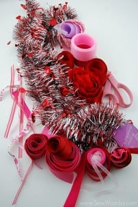 Scrap Ribbon Valentine Garland 1