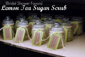 {Bridal Shower Favors} Lemon Tea Sugar Scrub