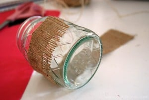 Mason  Jar Burlap Glasses 7