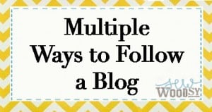 multiple ways to follow a blog