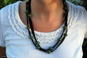 Ribbon To Bead Necklace 10