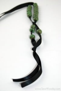 Ribbon To Bead Necklace 6