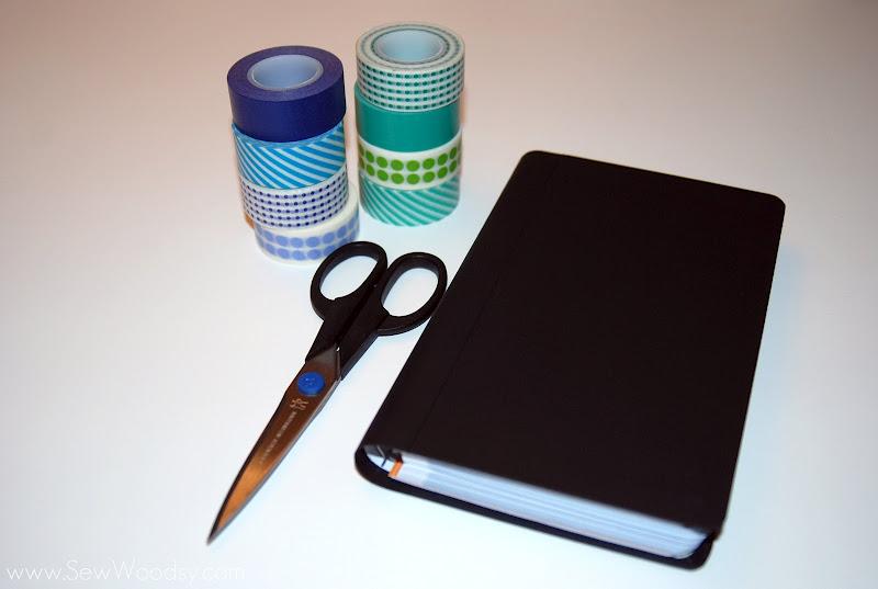 Resources:notebook,variousWashitapesandscissors