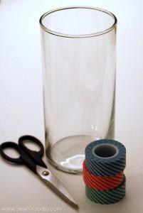 Washi Tape Swirl Vase 1