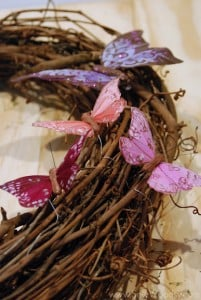 Spring Grapevine Wreath with butterfly