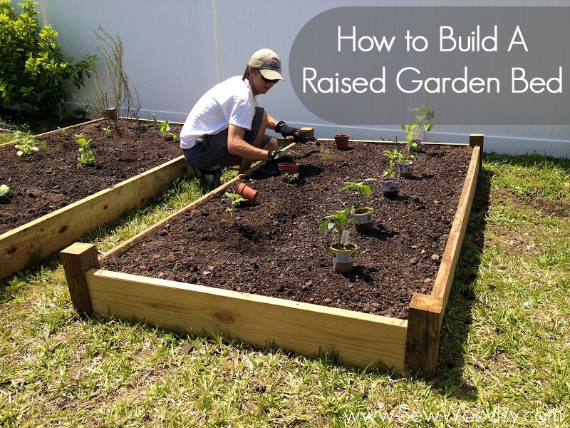 How To Build A Raised Garden Box How To Build A Simple Elevated