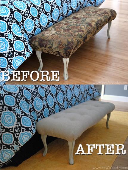 (Part 2) How To Upholster a Bench Cushion + Tufting