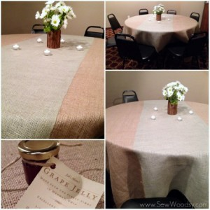 burlap wedding table cloths