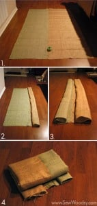 how to sew burlap tablecloths
