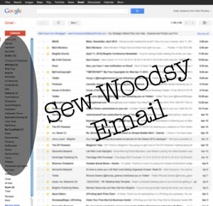 sew woodsy email screen shot