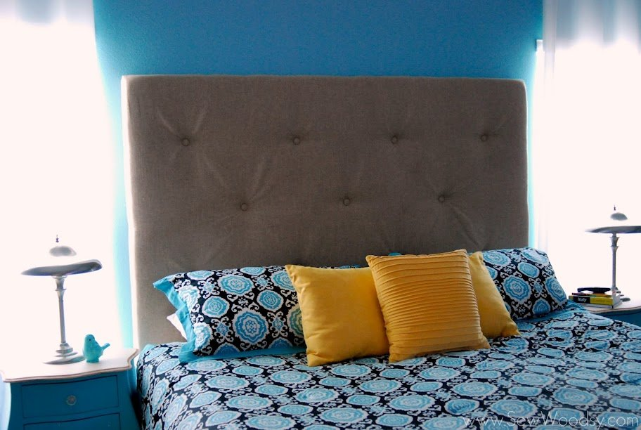 before & after Upholstered Tufted Headboard