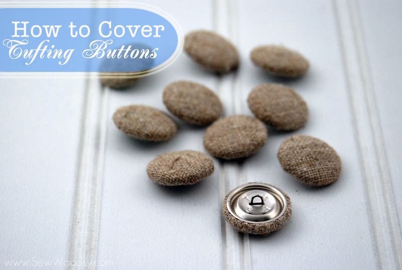 Video Tutorial How To Cover Tufting Buttons Sew Woodsy