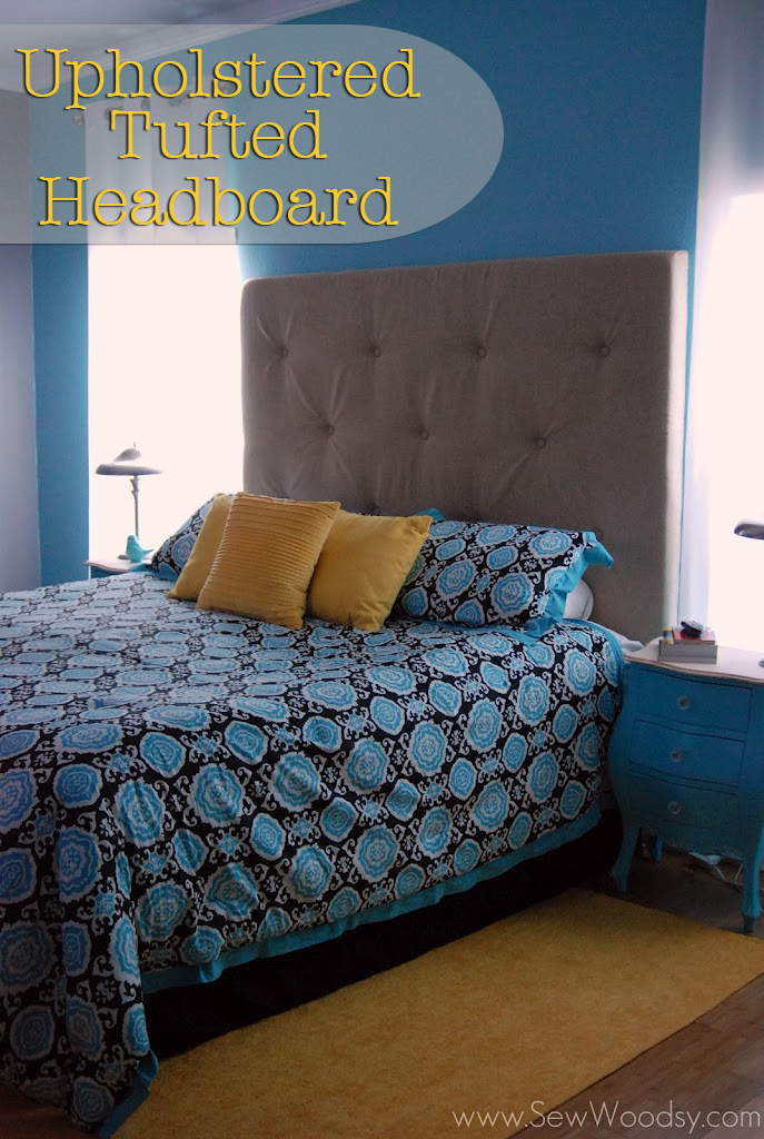 {Part 2} Upholstered Tufted Headboard Tutorial
