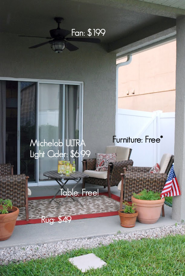 Outdoor living room reveal michelob ultra light cider for Cost of outdoor living space
