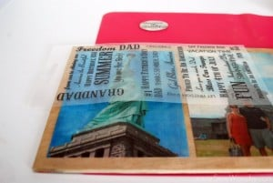 Mod Podge Patriotic Photo Plaque