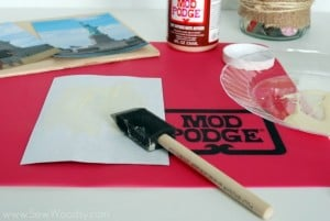 Mod Podge Patriotic Photo Plaque 6
