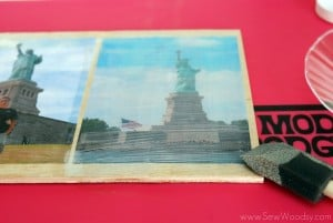 Mod Podge Patriotic Photo Plaque 9