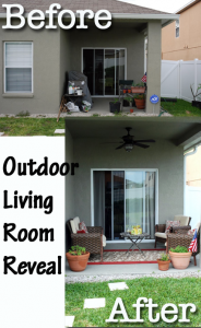 outdoor living room reveal before & after