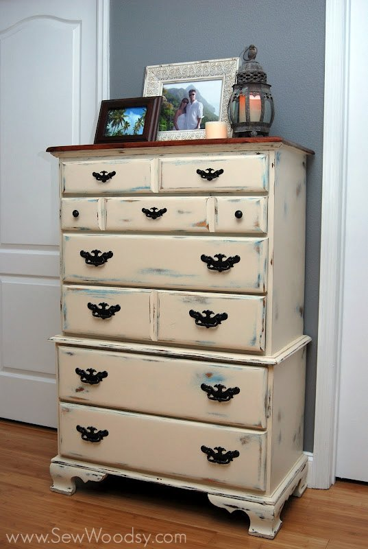 antique chalk painted dresser - Antique Chalk Painted Dresser - Sew Woodsy