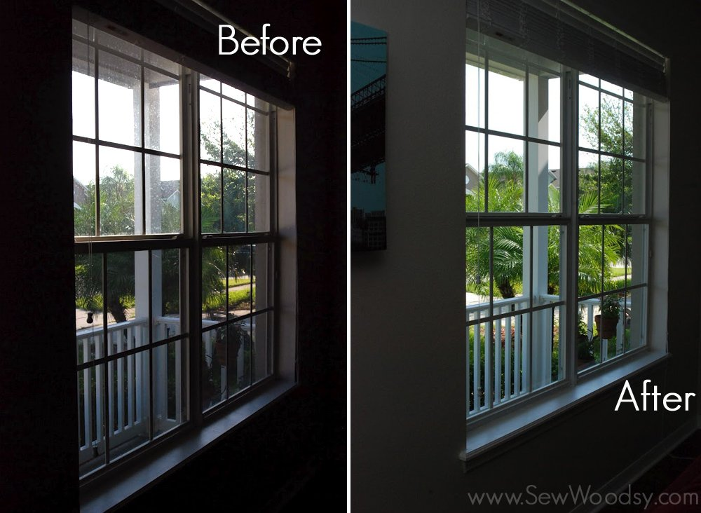 Before after fish window cleaning sew woodsy - Diy tips home window cleaning ...