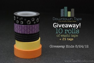 downtown tape giveaway from SewWoodsy.com