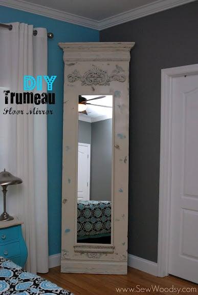 diy floor mirror trumeau