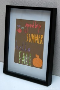 "{Washi Tape Sign} ""Goodbye Summer, Hello Fall"""