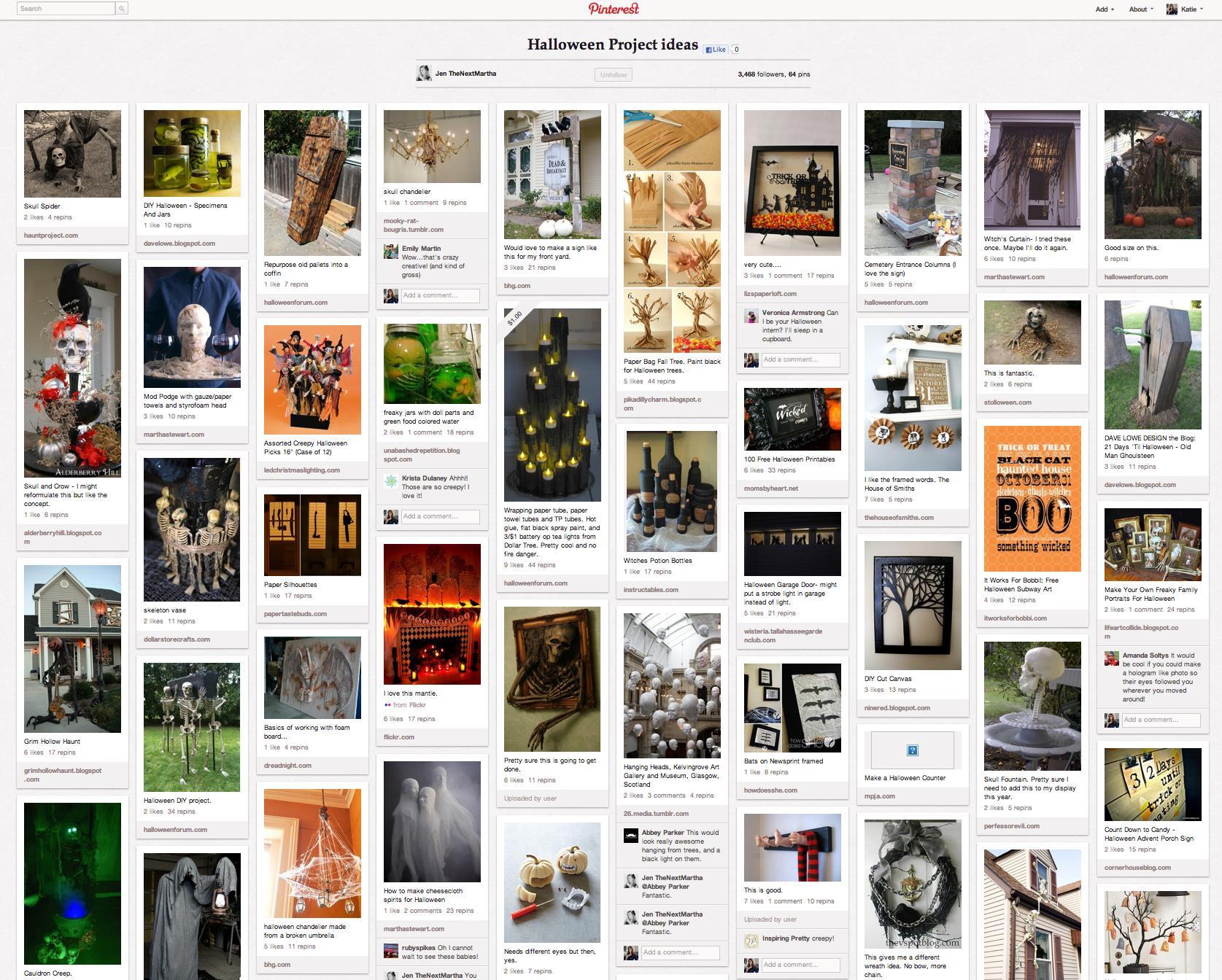 Halloween Pinterest Board