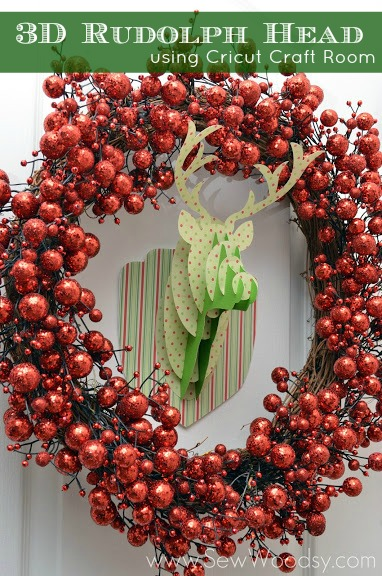 3D Rudolph Head using Cricut Craft Room