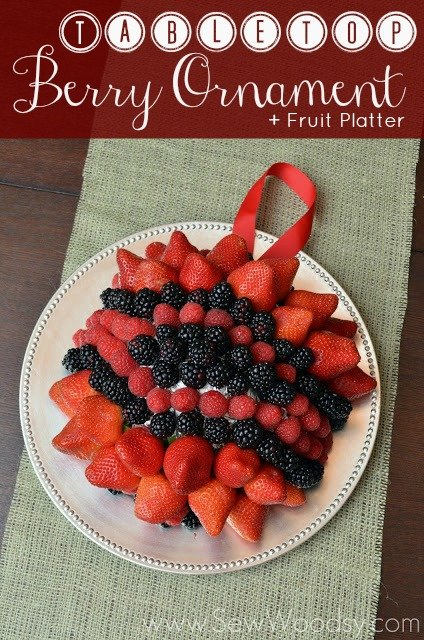Tabletop Berry Ornament + Fruit Platter
