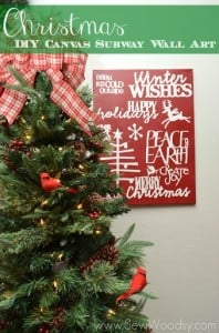Christmas DIY Canvas Subway Wall Art