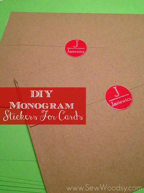 DIY Monogram Stickers For Cards #ChristmasCards #PaperCrafting #DIY #Tutorial