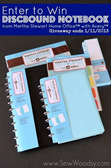 Discbound Notebook from Martha Stewart Home Office™ with Avery™ Giveaway