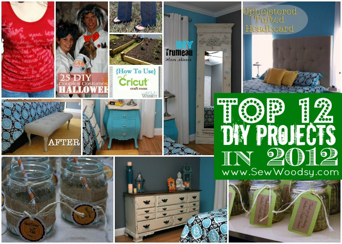 Top 12 DIY projects in 2012 on SewWoodsy.com