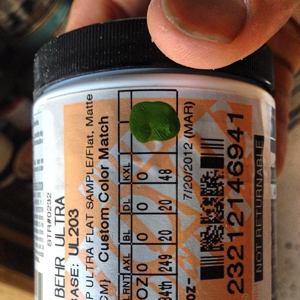 Green BEHR Paint