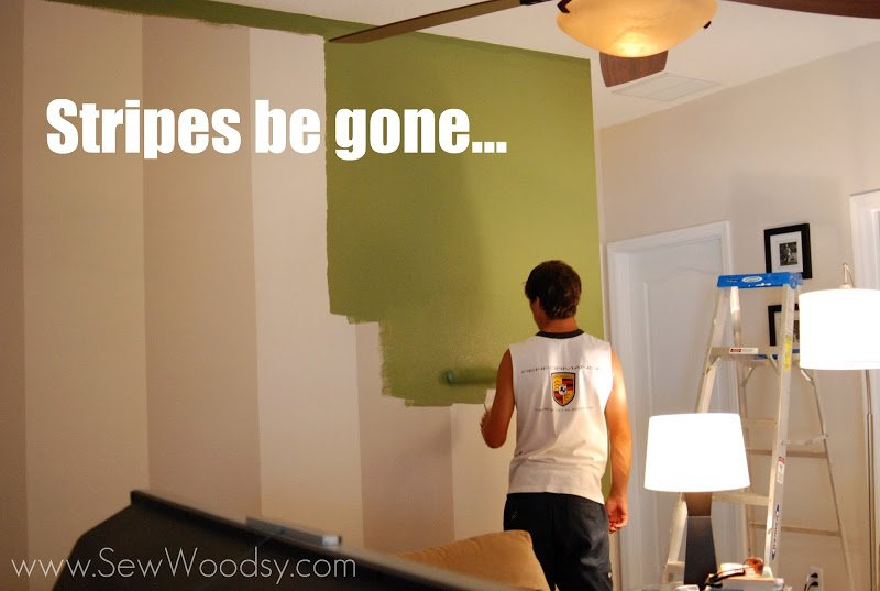 Stripes be gone... #painting #DIY #BEHRpaint