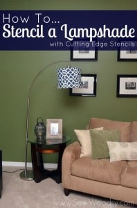 How to Stencil a Lampshade with Cutting Edge Stencils #DIY #Craft #HomeDecor #CuttingEdgeStencils #Paint