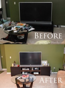 Ikea Hack Before and After Revamp a Media Stand