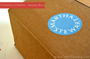 12 Months of Martha - January Box #12MonthsOfMartha #Craft