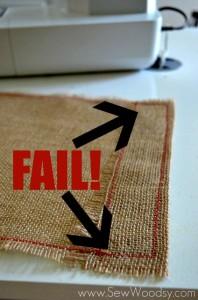 Burlap & Felt Heart Garden Flag Fail | SewWoodsy.com #sewing #DIY #GardenFlag #ValentinesDay
