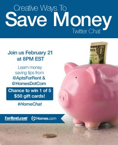 Saving Money Tips Twitter Chat with @Homes.com