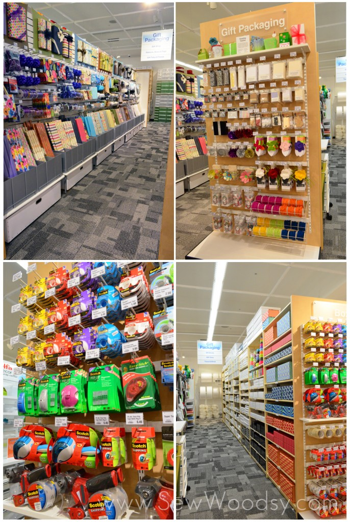 Gift Wrapping at The Container Store via SewWoodsy.com
