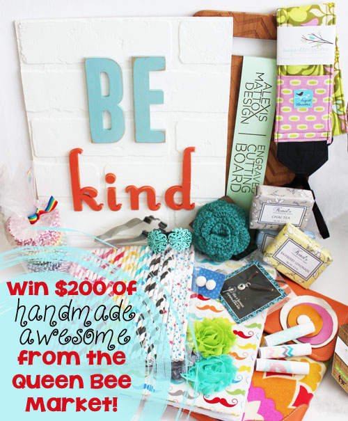 win 200 of handmade awesome from the queen bee market