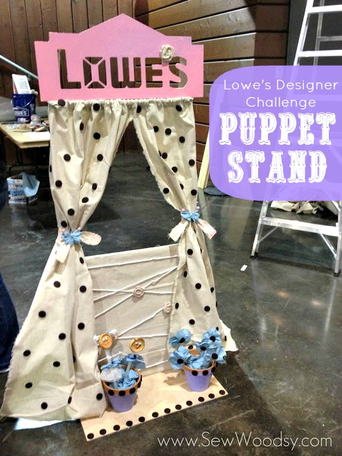 Lowe's Designer Challenge Puppet Stand from SewWoodsy.com