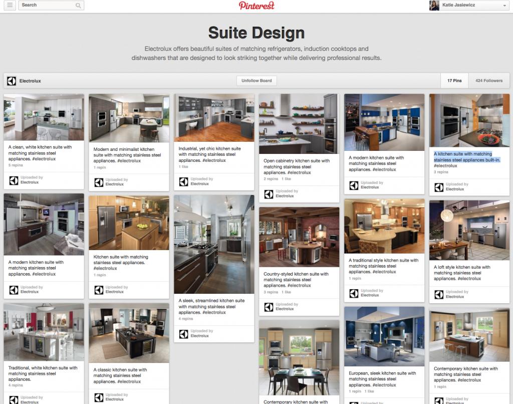 Electrolux Suite Design Pinterest Board